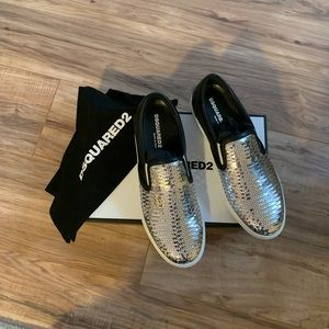 Dsquared2 slip on sequin sneakers